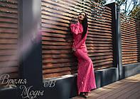 Коралловое вечернее гипюровое платье. 7 цветов