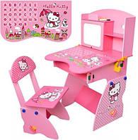 Детская регулируемая парта и стул, Hello Kitty (M 0324)