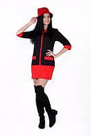 Платье -туника женское со вставками, фото 1