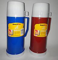 Термос пластмассовый со стеклянной колбой, 450 мл