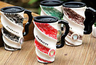 """Керамическая чашка с удобной ручкой """"Starbucks"""" 500 мл"""