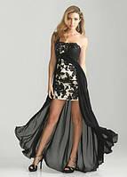 Эксклюзивное платье с накидкой в пол с ажуром