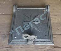 Дверка печная топочная чугунное литье 220х265 мм.