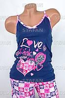 Женский комплект майка+шорты Турция. Pink Secret 3878-1. Размер 44-46.