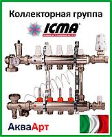 ICMA Коллекторная группа в сборе на 4 выхода без насоса со встроенным байпасом. Арт. A2K013