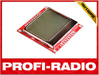 Графический LCD дисплей 84x48 Nokia 5110 для Arduino, PIC, AVR