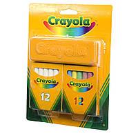 Набор для творчества Crayola Мелки белые и цветные с губкой (98268)