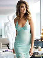 Нежная женская ночная сорочка Kinga N 363 AQUAMARINE V