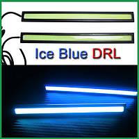 Дневные ходовые огни ДХО DRL COB 17см 12V  на двустороннем скотче. Кристально синий (99975)