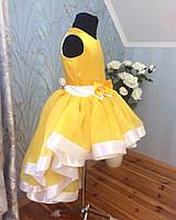 Роскошное праздничное  платье на девочку с пышной асимметричной юбкой