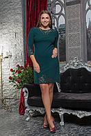 Платье женское батал перфорация, фото 1