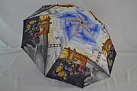 """Женский зонтик полуавтомат с бабочками 10 спиц от фирмы """"Bellisimo""""."""