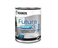 Грунт алкидный TEKNOS FUTURA AQUA 3 водоразбавляемый, белый (база 1), 0,9л