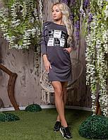 Платье женское спортивного стиля  капюшон, фото 1