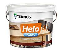 Лак полиуретановый TEKNOS HELO AQUA 40 для паркета и мебели, полуглянцевый 9л