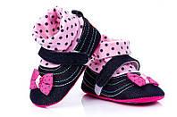 Эксклюзив туфельки пинетки для девочки.Польша
