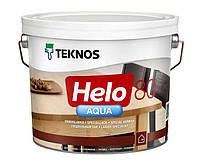Лак полиуретановый TEKNOS HELO AQUA 80 для паркета и мебели, глянцевый 9л