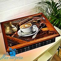 Поднос для завтрака в постель Капучино