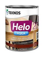 Лак полиуретановый TEKNOS HELO AQUA 20 для паркета и мебели, полуматовый, 0,9л