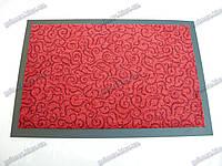 Коврик грязезащитный Узор, 60х90см., красный