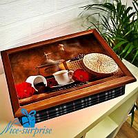 Поднос для завтрака в постель Кофеварение