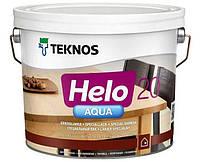 Лак полиуретановый TEKNOS HELO AQUA 20 для паркета и мебели, полуматовый 2,7л