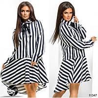 Стильное платье в полоску 112 (1112)