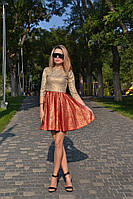 Платье женское юбка солнце рукав 3/4, фото 1