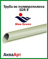 Труба полипропиленовая SDR 9 для холодной воды 75x8.4 мм PN12.5  BLUE OCEAN