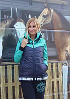 Жилет женский капюшон карманы синтепон, фото 1