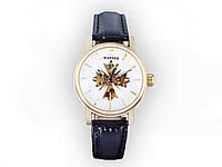 Наручные женские часы WINNER  Белый циферблат - золотой корпус.