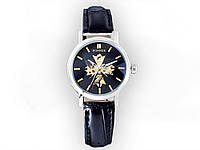Наручные женские часы WINNER  Черный циферблат - белый корпус.