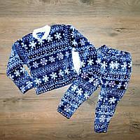 """Детская махровая пижама """"Зима"""" , рост от 74 до 116 см"""