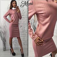 Костюм женский кофта с рубашечным воротником и юбка-карандаш 3 цвета 2Kmil84