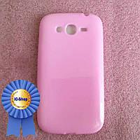 Чехол Samsung i9080 / i9082 - розовый (Cиликон) #24