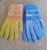Перчатки вязаные детские. Для девочки подростка.