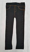 Лосины черные школьные на меху для девочек Под джинс