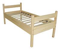 Кровать детская, из натуральной древесины (сосна), без матраса.
