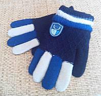 Перчатки детские вязанные. На мальчика от 4 лет. Код 551.
