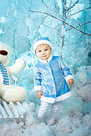 Костюм детский Снегурочка велюр для девочки