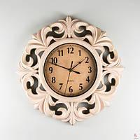 Интересные настенные часы (41см) цвет кремовый