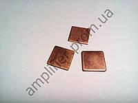Медная пластина (термопрокладка) 2,0х15х15 мм