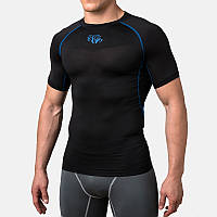 Компрессионная футболка Peresvit Air Motion Compression Short Sleeve T-Shirt Black Blue