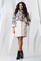 Женское белое демисезонное пальто р. 44-60 арт. 971 Тон 8