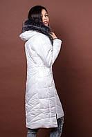 Зимняя женская молодежная куртка. Код К-77-12-17. Цвет белый.