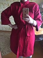 Женское пальто на потайной застежке