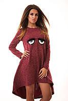Платье теплое ангора женское осень/зима S M L