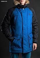Зимняя парка куртка мужская с капюшоном Staff North/melange blue Art. SME0002