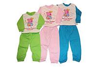 Пижама детская Пеппа, 100 % хлопок с начесом, размеры 86-140 см