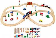 Детская Железная дорога Viga Toys 49 деталей (56304)